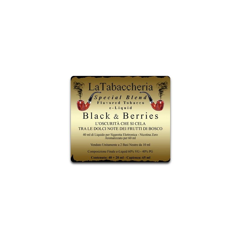 Aroma Special Blend Black e Berries La Tabaccheria 10ml
