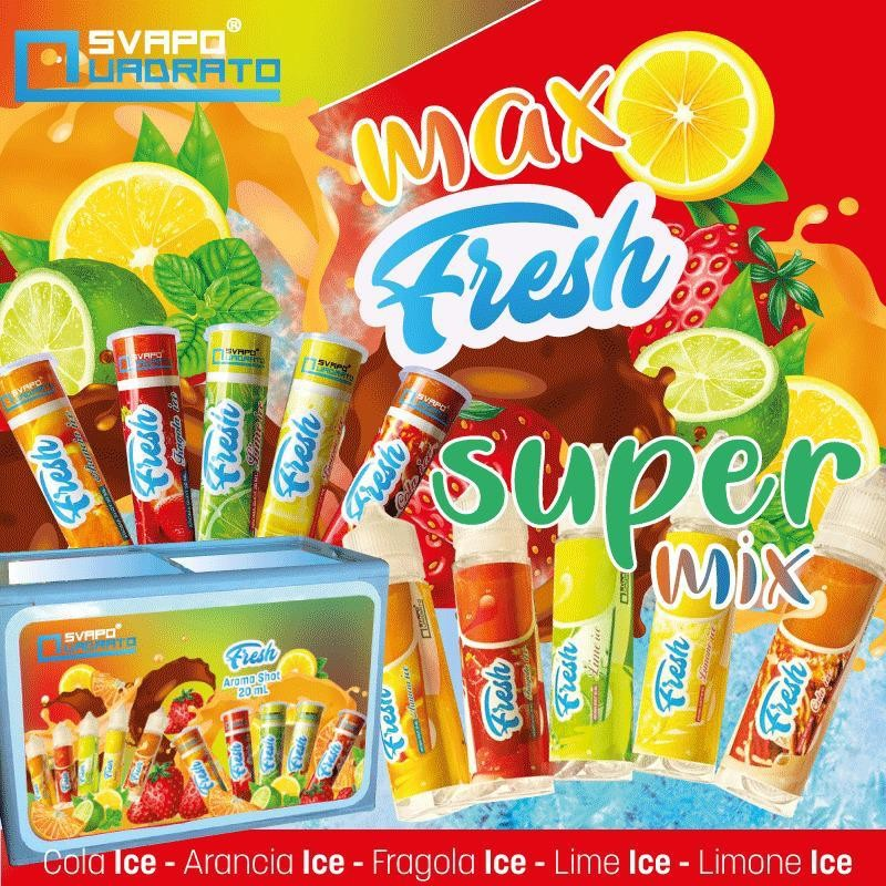 Svapo Quadrato Fresh - Arancia ICE Scomposto, aroma 20ml