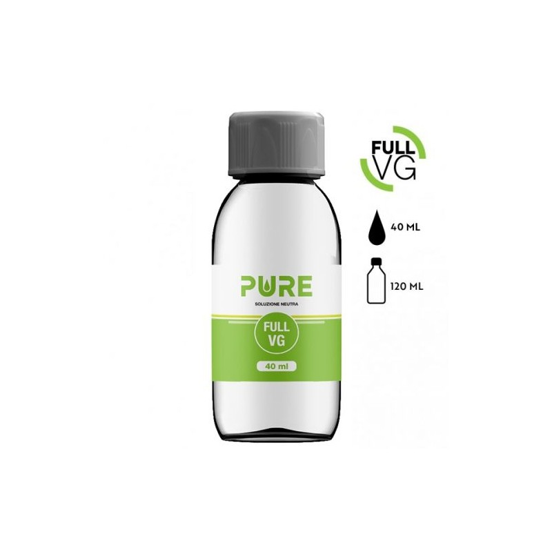 Pure Glicerina Vegetale 40 ml in bottiglia da 120 ml